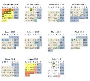 Calendario escolar 14-15